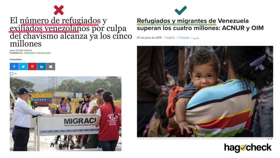 El caso de la crisis de migrantes y refugiados venezolanos es un ejemplo claro