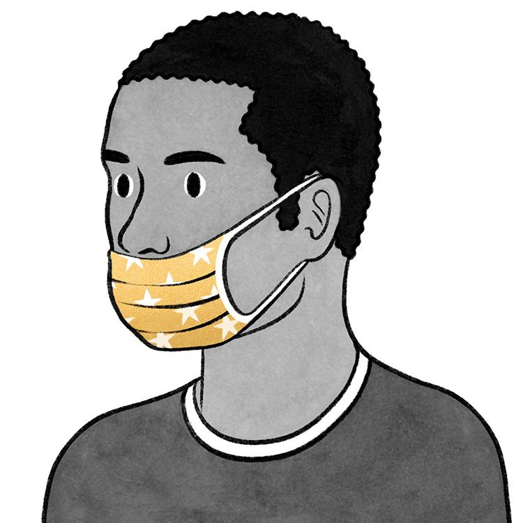 Uso incorrecto de tapabocas mascarilla COVID-10. illustrations by Eleni Kalorkoti for The New York Times